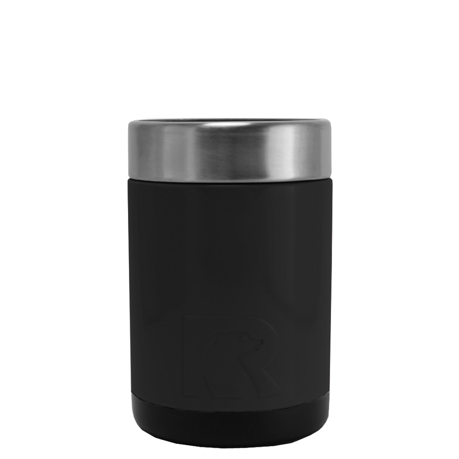 RTIC Black Matte Stainless Steel 12 oz Bottle Can Cooler