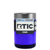 RTIC Blue Gloss Stainless Steel 12 oz Bottle Can Cooler