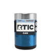 RTIC Blue Translucent Stainless Steel 12 oz Bottle Can Cooler