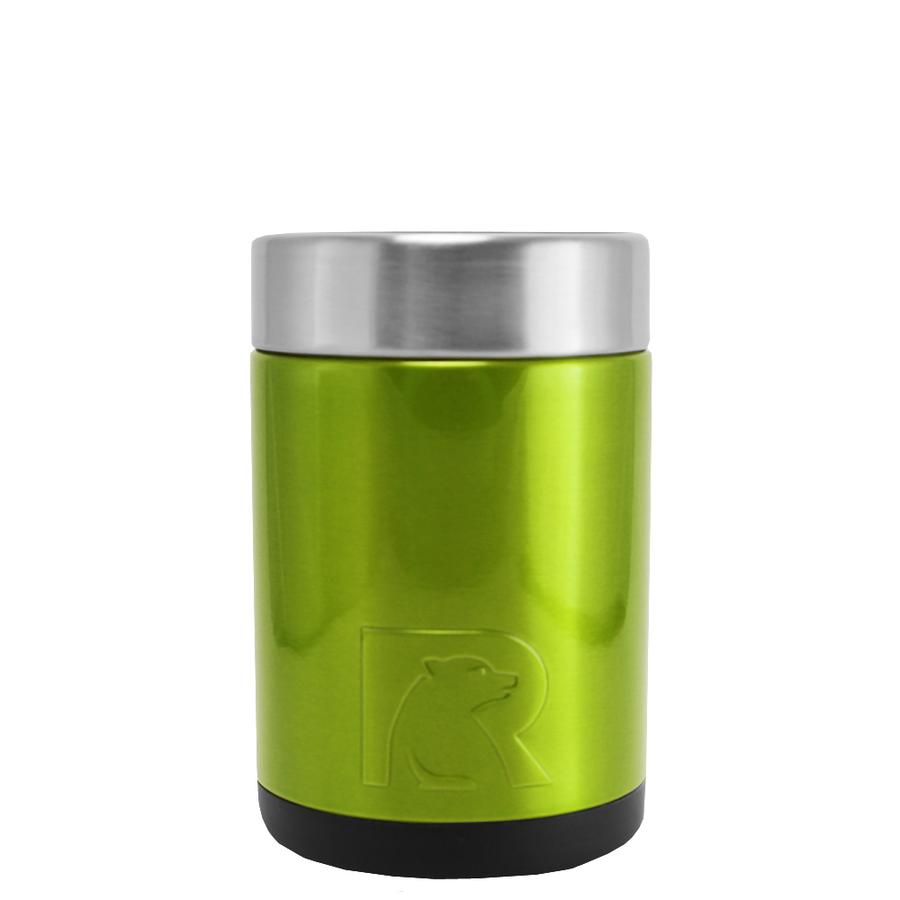 RTIC Green Apple Translucent Stainless Steel 12 oz Bottle Can Cooler