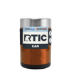 RTIC Copper Translucent Stainless Steel 12 oz Bottle Can Cooler