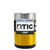 RTIC Gold Translucent Stainless Steel 12 oz Bottle Can Cooler