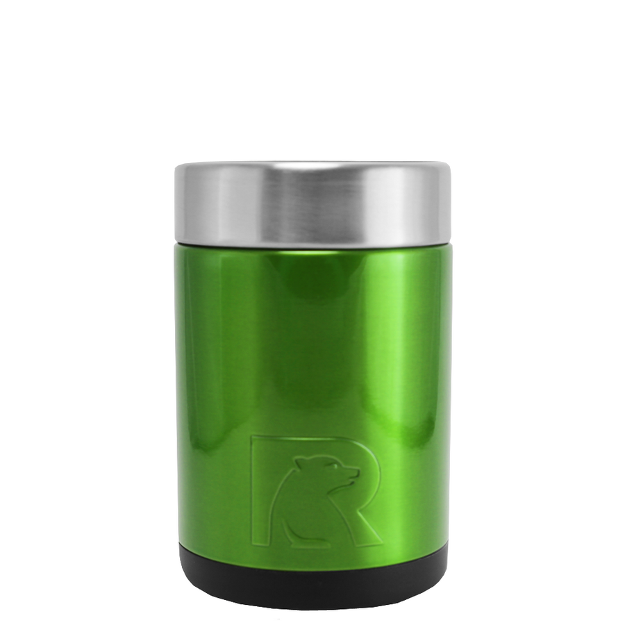 RTIC Green Translucent Stainless Steel 12 oz Bottle Can Cooler
