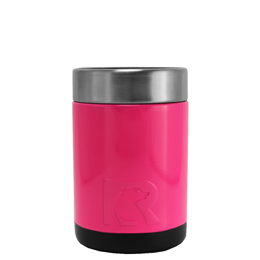 RTIC Hot Pink Stainless Steel 12 oz Bottle Can Cooler