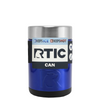 RTIC Intense Blue Translucent Stainless Steel 12 oz Bottle Can Cooler