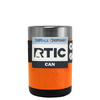 RTIC Orange Gloss Stainless Steel 12 oz Bottle Can Cooler
