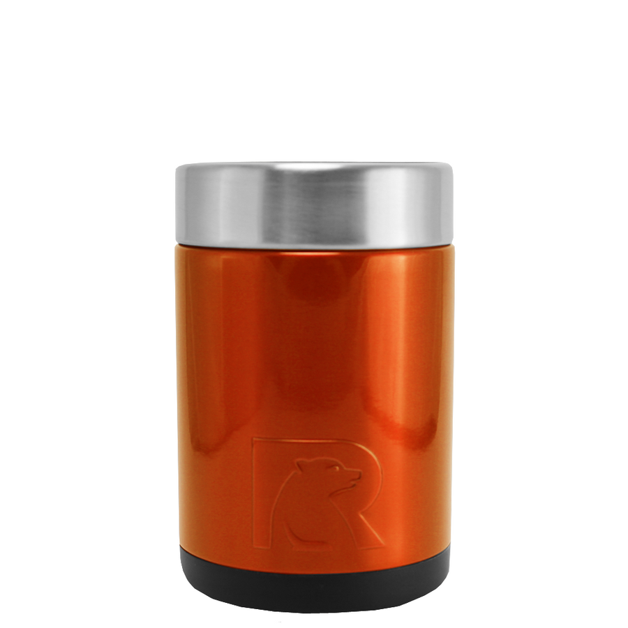 RTIC Orange Translucent Stainless Steel 12 oz Bottle Can Cooler