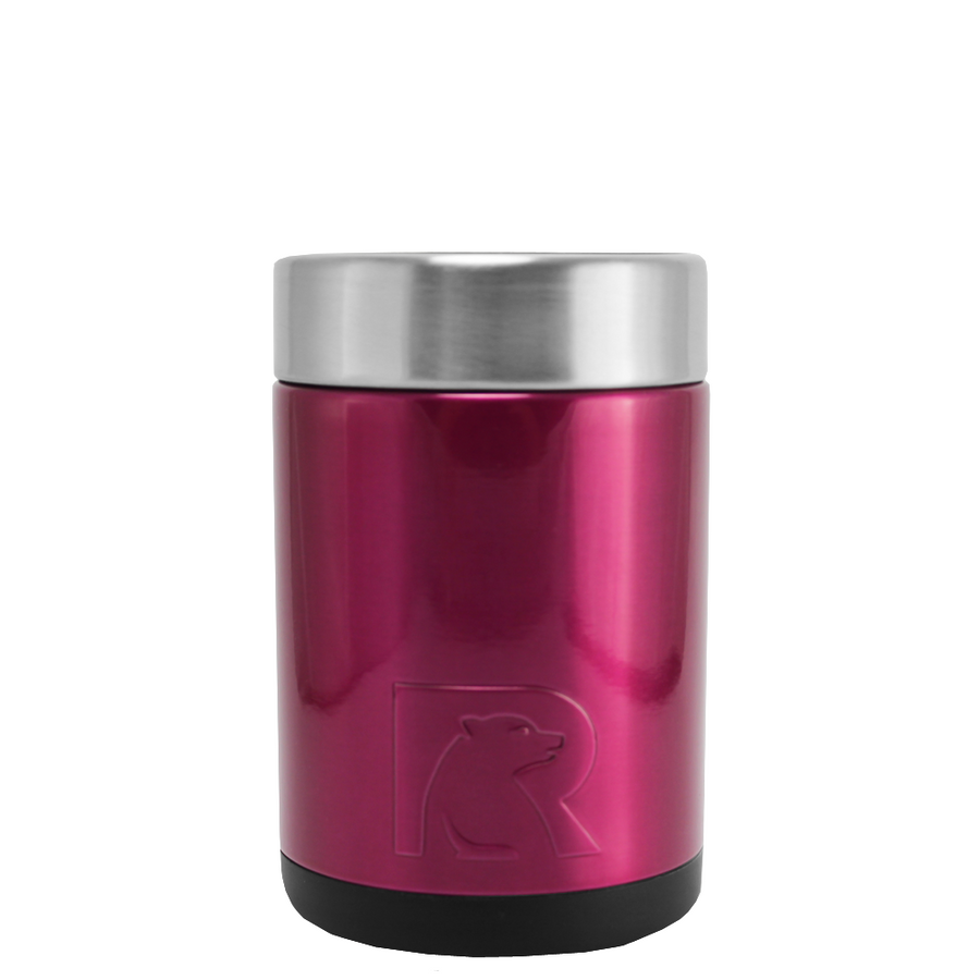RTIC Hot Pink Translucent Stainless Steel 12 oz Bottle Can Cooler