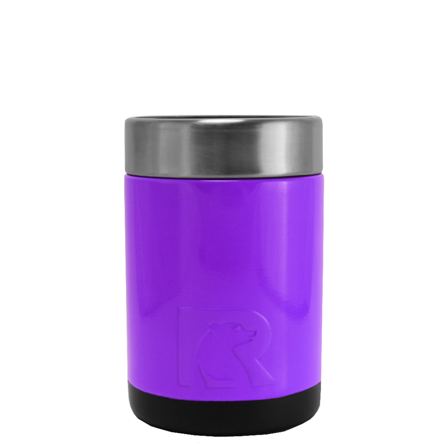 RTIC Purple Gloss Stainless Steel 12 oz Bottle Can