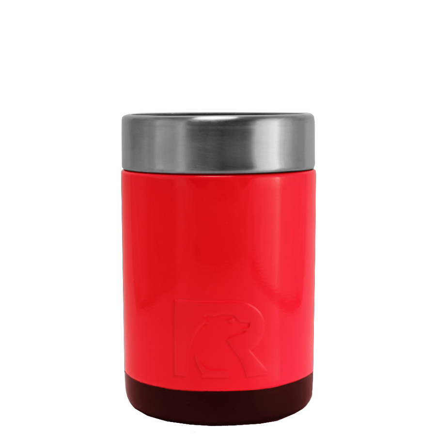 RTIC Red Gloss Stainless Steel 12 oz Bottle Can Cooler