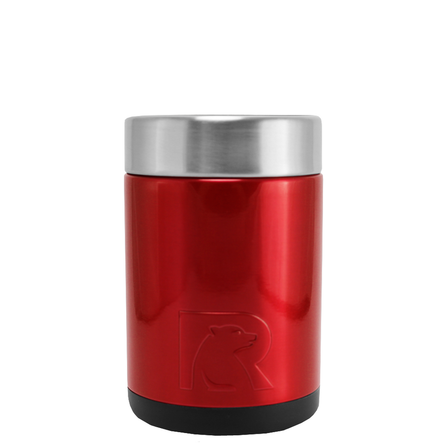 RTIC Red Translucent Stainless Steel 12 oz Bottle Can Cooler
