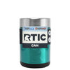 RTIC Teal Translucent Stainless Steel 12 oz Bottle Can Cooler