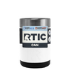 RTIC White Gloss Stainless Steel 12 oz Bottle Can Cooler