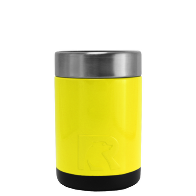 RTIC Yellow Gloss Stainless Steel 12 oz Bottle Can Cooler