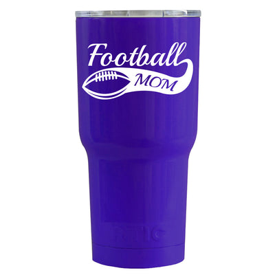 RTIC Football Mom on Purple Gloss 20 oz Tumbler - TrekTumblers