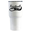 RTIC Football Mom on White Gloss 20 oz Tumbler - TrekTumblers