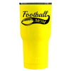 RTIC Football Mom on Yellow Gloss 20 oz Tumbler - TrekTumblers