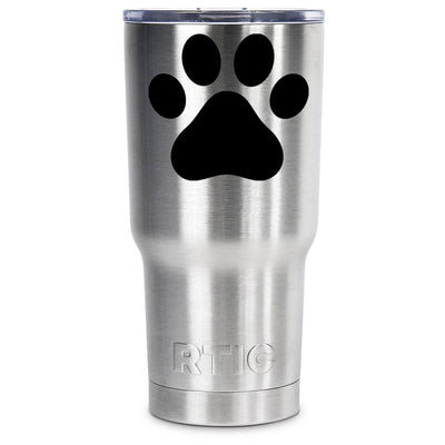 RTIC Paw Print Silhouette Personalized 20 oz Tumbler - TrekTumblers
