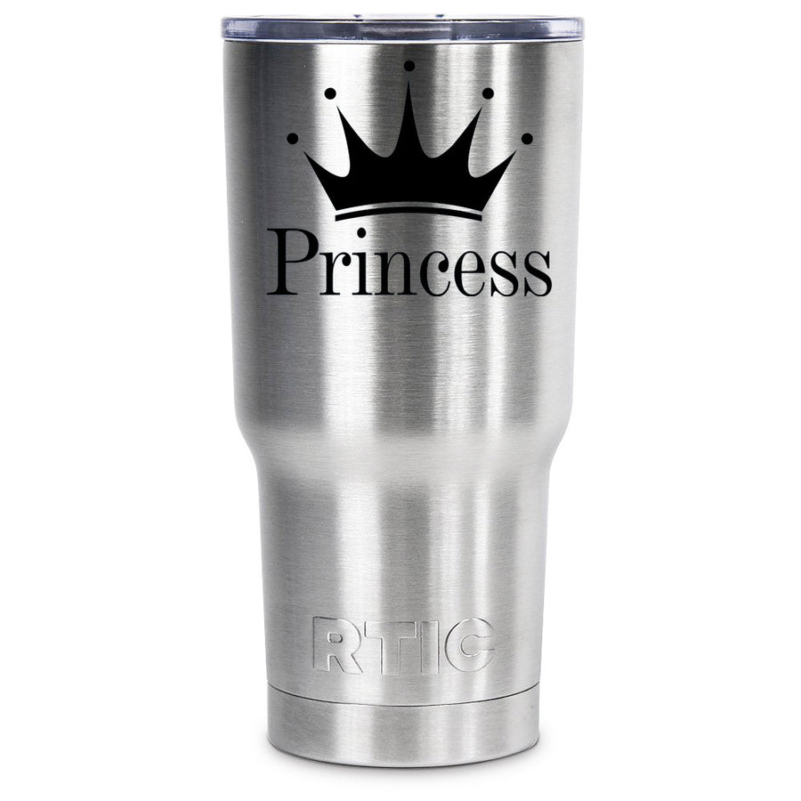 RTIC Princess Crown Silhouette Personalized 20 oz Tumbler - TrekTumblers