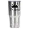 RTIC Princess Crown Silhouette Personalized 30oz Tumbler - TrekTumblers