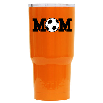 RTIC Soccer Mom on Orange 20 oz Tumbler - TrekTumblers