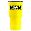 RTIC Soccer Mom on Yellow Gloss 20 oz Tumbler - TrekTumblers