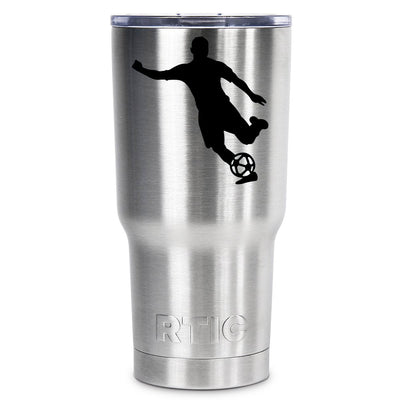 RTIC Soccer Player Silhouette Personalized 30 oz Tumbler - TrekTumblers