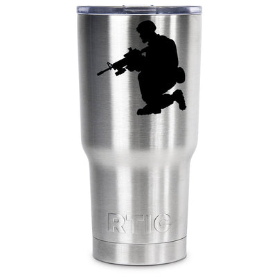 RTIC Soldier Silhouette Personalized 30oz Tumbler - TrekTumblers