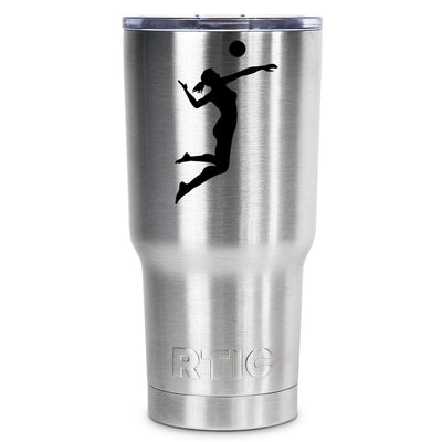 RTIC VolleyBall Girl Silhouette Personalized 20oz Tumbler - TrekTumblers