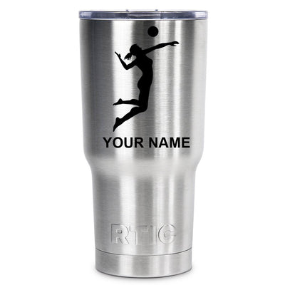 RTIC VolleyBall Girl Silhouette Personalized 20 oz Tumbler - TrekTumblers