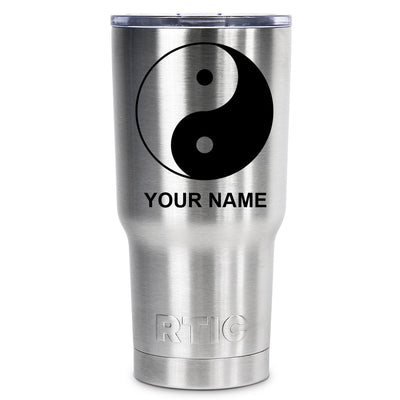 RTIC Ying and Yang Silhouette Personalized 20oz Tumbler - TrekTumblers