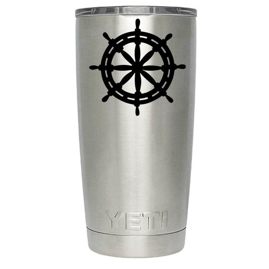 YETI Ship's Wheel Silhouette Personalized 20oz Rambler - TrekTumblers
