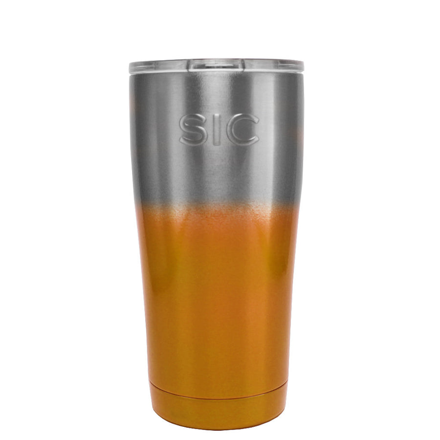 SIC Silver Orange Ombre Translucent 20 oz. Tumbler