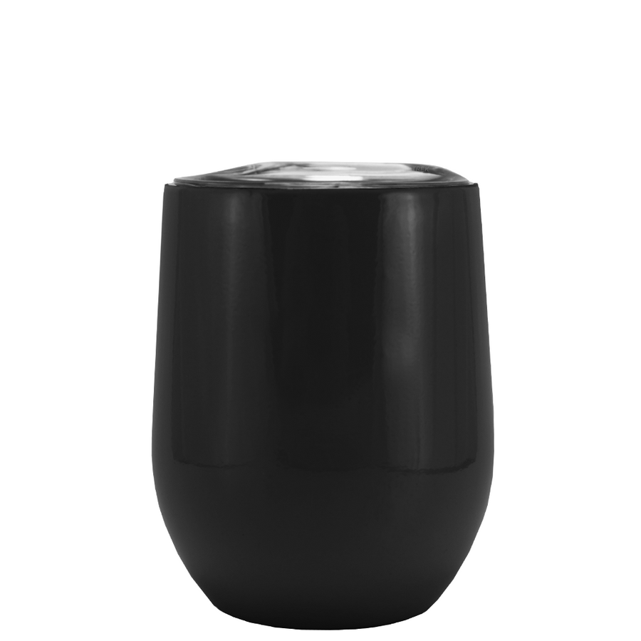 SWIG Black Matte 12 oz Stemless Wine Tumbler