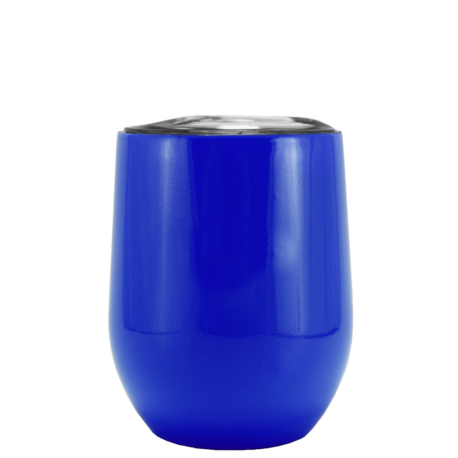SWIG Blue Gloss 12 oz Stemless Wine Tumbler