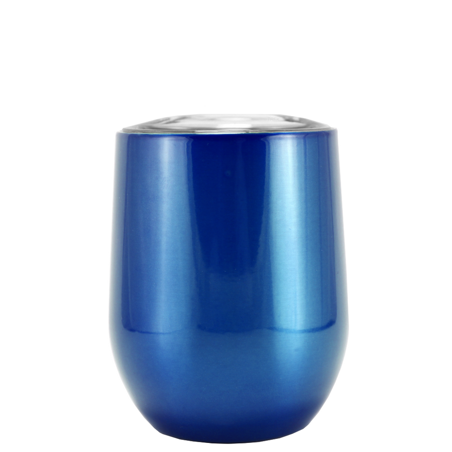 SWIG Blue Translucent 12 oz Stemless Wine Tumbler