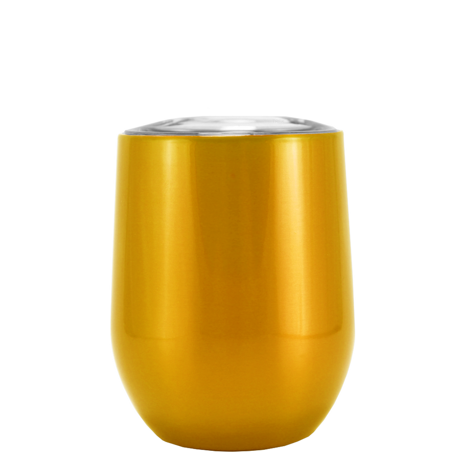 SWIG Gold Translucent 12 oz Stemless Wine Tumbler