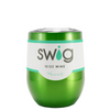 SWIG Green Translucent 12 oz Stemless Wine Tumbler