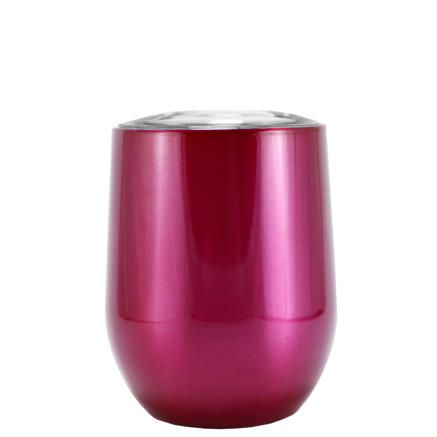 SWIG Hot Pink Translucent 12 oz Stemless Wine Tumbler