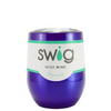 SWIG Intense Blue Translucent 12 oz Stemless Wine Tumbler
