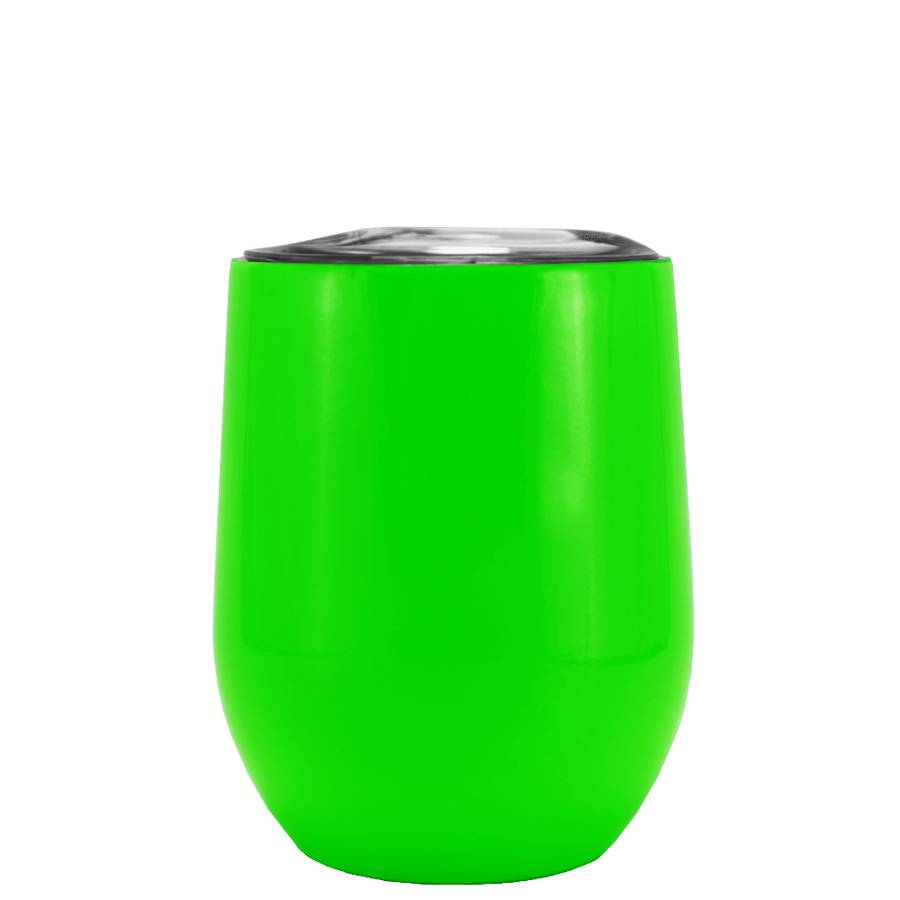 SWIG Neon Green Gloss 12 oz Stemless Wine Tumbler