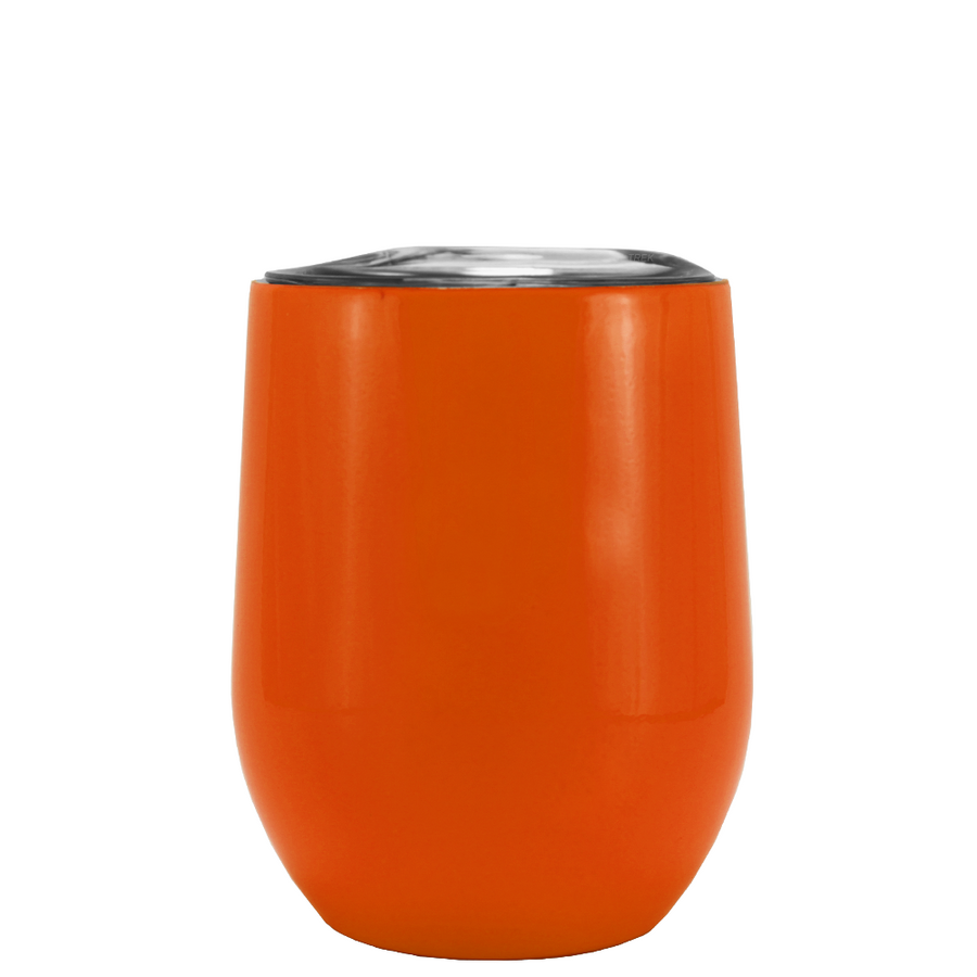 SWIG Orange Gloss 12 oz Stemless Wine Tumbler
