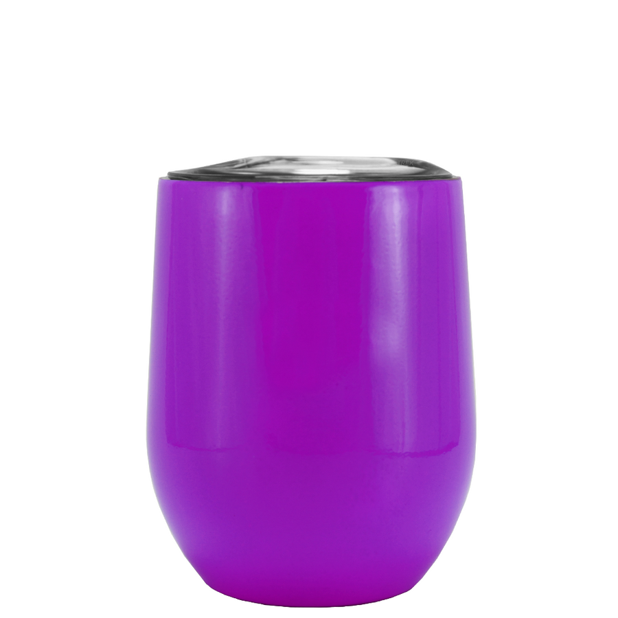 SWIG Purple Gloss 12 oz Stemless Wine Tumbler