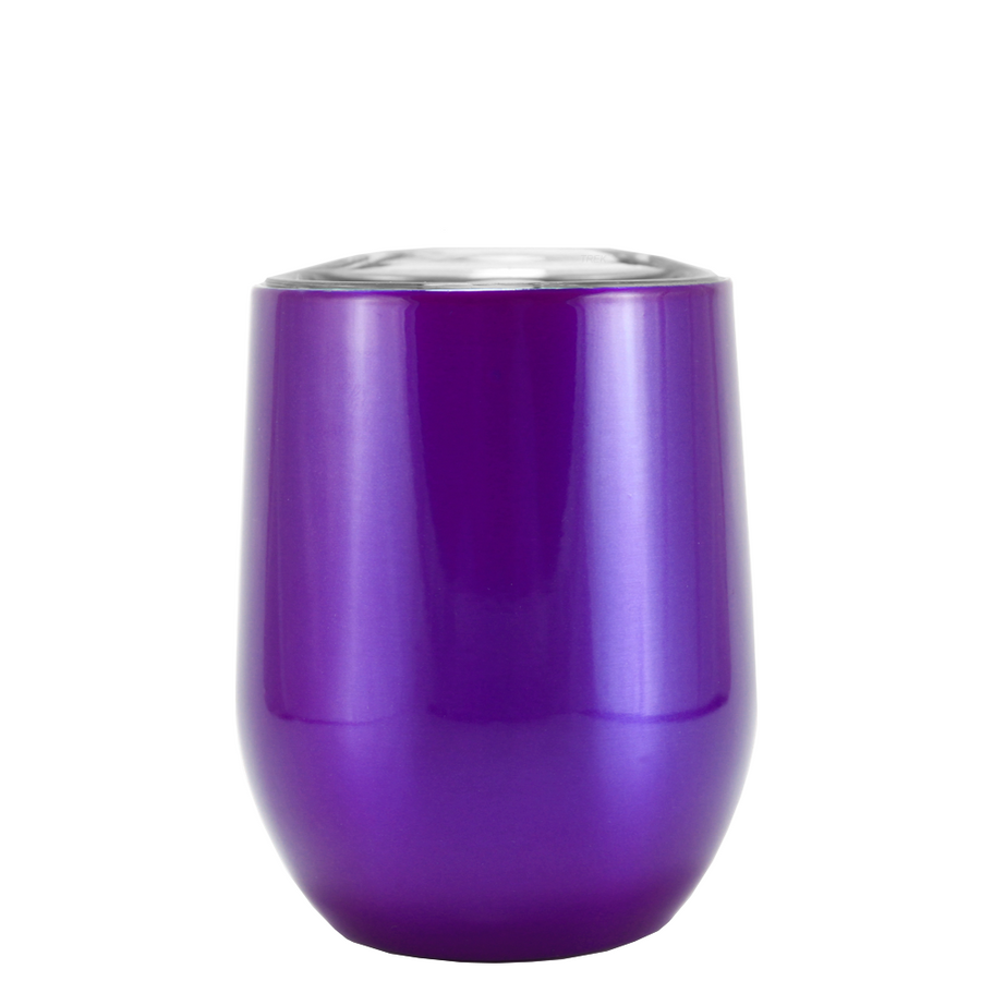 SWIG Purple Translucent 12 oz Stemless Wine Tumbler