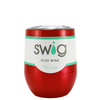 SWIG Red Translucent 12 oz Stemless Wine Tumbler