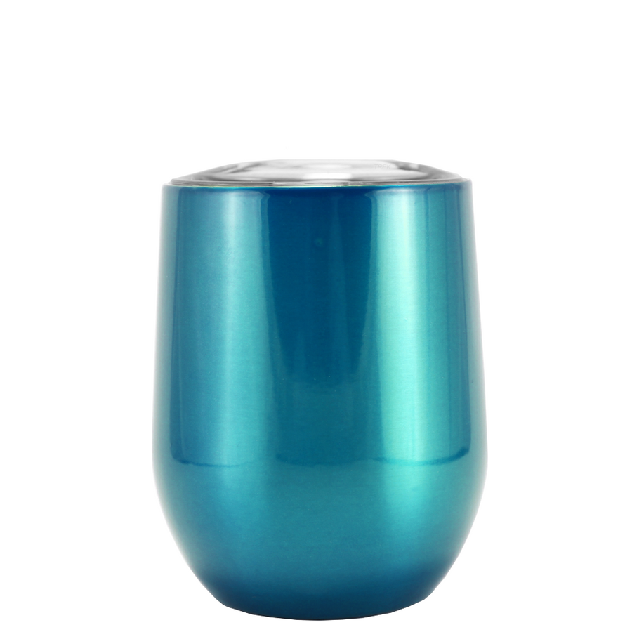 SWIG Teal Translucent 12 oz Stemless Wine Tumbler