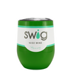 SWIG Tractor Green 12 oz Stemless Wine Tumbler