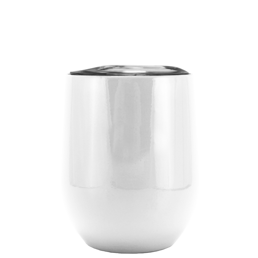 SWIG White Gloss 12 oz Stemless Wine Tumbler