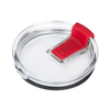 Spill Resistant Red Closable Lid for 20 oz Tumblers