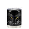Black Cat on Black 10 oz Lowball Halloween Tumbler
